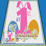 My First Easter SC (Single Crochet) Baby Blanket Graphghan Crochet Pattern - PDF Download
