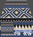 Native American Inspired SC (Single Crochet) Queen Blanket Graphghan Crochet Pattern - PDF Download