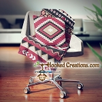 Native American Inspired SC (Single Crochet) Throw Pillow and Blanket Set Graphghan Crochet Pattern - PDF Download