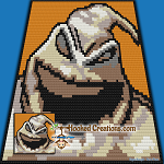 NBC-CAL: Add On Block - Oogie Boogie SC (Single Crochet) Graphghan Crochet Pattern - PDF Download