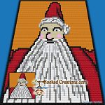 NBC-CAL: Add On Block - Sandy Claws SC (Single Crochet) Graphghan Crochet Pattern - PDF Download