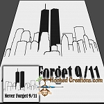 Never Forget 9/11 SC (Single Crochet) Throw Blanket Graphghan Crochet Pattern - PDF Download