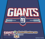 NY Giants C2C (Corner to Corner) Throw Blanket Graphghan Crochet Pattern - PDF Download