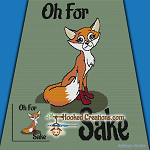 Oh For Fox Sake SC (Single Crochet) Throw Blanket Graphghan Crochet Pattern - PDF Download