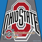 Ohio State SC (Single Crochet) Throw Blanket Graphghan Crochet Pattern - PDF Download