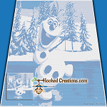 Olaf SC (Single Crochet) Throw Blanket Graphghan Crochet Pattern - PDF Download