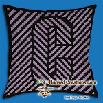 OPTICAL ALPHABET – C SC (Single Crochet) Throw Pillow Graphghan Crochet Pattern - PDF Download