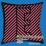 OPTICAL ALPHABET – E SC (Single Crochet) Throw Pillow Graphghan Crochet Pattern - PDF Download