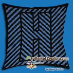 OPTICAL ALPHABET – H SC (Single Crochet) Throw Pillow Graphghan Crochet Pattern - PDF Download