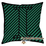 OPTICAL ALPHABET – I SC (Single Crochet) Throw Pillow Graphghan Crochet Pattern
