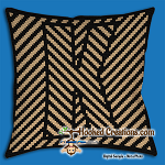 OPTICAL ALPHABET – K SC (Single Crochet) Throw Pillow Graphghan Crochet Pattern - PDF Download
