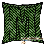 OPTICAL ALPHABET – M SC (Single Crochet) Throw Pillow Graphghan Crochet Pattern - PDF Download