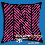 OPTICAL ALPHABET – N SC (Single Crochet) Throw Pillow Graphghan Crochet Pattern - PDF Download