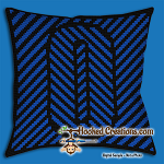 OPTICAL ALPHABET – O SC (Single Crochet) Throw Pillow Graphghan Crochet Pattern - PDF Download