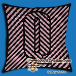 OPTICAL ALPHABET – Q SC (Single Crochet) Throw Pillow Graphghan Crochet Pattern - PDF Download