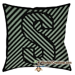 OPTICAL ALPHABET – S SC (Single Crochet) Throw Pillow Graphghan Crochet Pattern - PDF Download