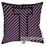 OPTICAL ALPHABET – T SC (Single Crochet) Throw Pillow Graphghan Crochet Pattern - PDF Download