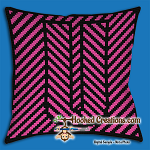 OPTICAL ALPHABET – U SC (Single Crochet) Throw Pillow Graphghan Crochet Pattern - PDF Download