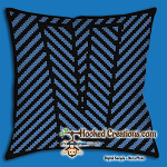 OPTICAL ALPHABET – V SC (Single Crochet) Throw Pillow Graphghan Crochet Pattern - PDF Download