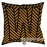 OPTICAL ALPHABET – W SC (Single Crochet) Throw Pillow Graphghan Crochet Pattern - PDF Download