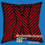 OPTICAL ALPHABET – X SC (Single Crochet) Throw Pillow Graphghan Crochet Pattern - PDF Download