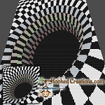 Optical Black Hole Mini C2C (Modified Corner to Corner) Throw Blanket Graphghan Crochet Pattern