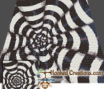 Optical Cones Mini C2C (Modified Corner to Corner) Throw Blanket Graphghan Crochet Pattern