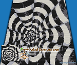 Optical Cones Mini C2C (Modified Corner to Corner) Throw Blanket Graphghan Crochet Pattern - PDF Download