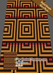 Optical Cubes C2C (Corner to Corner) Twin Blanket Graphghan Crochet Pattern