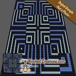 Optical Fate C2C (Corner to Corner) Throw Sized Blanket Graphghan Crochet Pattern