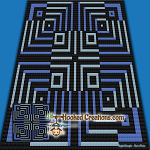 Optical Fate C2C (Corner to Corner) Throw Sized Blanket Graphghan Crochet Pattern - PDF Download