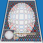 Optical Orb SC (Single Crochet) Throw Blanket Graphghan Crochet Pattern - PDF Download
