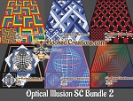 Optical Illusion SC (Single Crochet) Bundle 2 Graphghan Crochet Patterns  - PDF Download
