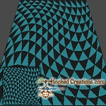 Optical Triangle SC (Single Crochet) Throw Blanket Graphghan Crochet Pattern