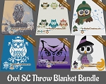 Owl Throw Blanket SC (Single Crochet) Bundle Graphghan Crochet Patterns  - PDF Download