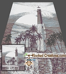 Palm Beach Lighthouse SC (Single Crochet) Queen Blanket Graphghan Crochet Pattern - PDF Download