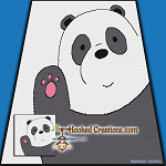 Panda Wave SC (Single Crochet) Throw Blanket Graphghan Crochet Pattern - PDF Download