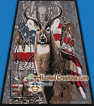 Patriotic Deer SC (Single Crochet) Full Size Blanket Graphghan Crochet Pattern - PDF Download