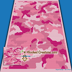 Pink Camouflage SC (Single Crochet) Baby Blanket Crochet Pattern - PDF Download
