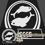 Pisces SC (Single Crochet) Throw Sized Blanket Graphghan Crochet Pattern