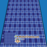 Plaid Baby Blanket - Blue C2C (Corner to Corner) Graphghan Crochet Pattern - PDF Download