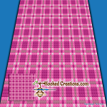 Plaid Baby Blanket -Pink C2C (Corner to Corner) Graphghan Crochet Pattern - PDF Download