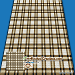 Plaid Baby Blanket - Tan C2C (Corner to Corner) Graphghan Crochet Pattern - PDF Download