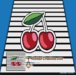 Pop Art Cherries SC (Single Crochet) Throw Blanket Graphghan Crochet Pattern - PDF Download