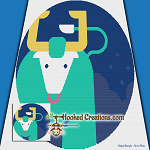 Pop Art Taurus SC (Single Crochet) Throw Blanket Graphghan Crochet Pattern - PDF Download