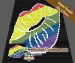 Pride Kiss C2C (Corner to Corner) Throw Blanket Graphghan Crochet Pattern