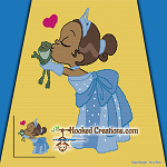 Princess and the Frog SC (Single Crochet) Throw Blanket Graphghan Crochet Pattern - PDF Download
