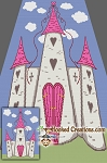 Princess Castle SC (Single Crochet) Twin Blanket Graphghan Crochet Pattern - PDF Download