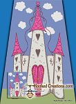 Princess Castle TSS (Tunisian Simple Stitch)-Right Handed Twin Blanket Graphghan Crochet Pattern - PDF Download