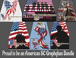 Proud to be an American SC (Single Crochet) Bundle Graphghan Crochet Patterns